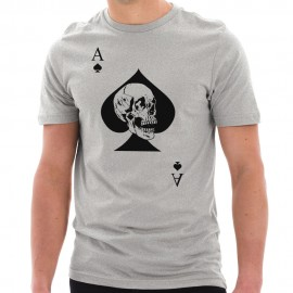 Special Forces Ace Death Card Graphic Short Sleeve Cotton Jersey T-Shirt