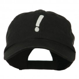 Exclamation Point Embroidered Cap - Black