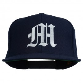 Old English M Embroidered Cap - Navy