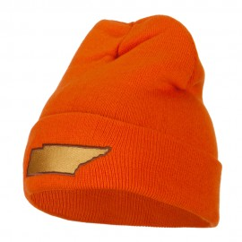 Tennessee State Map Embroidered Long Beanie