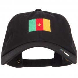 Cameroon Flag Embroidered Washed Cap