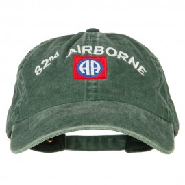 82nd Airborne Logo Embroidered Washed Cotton Twill Cap