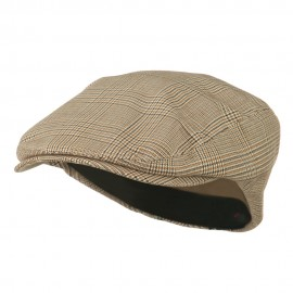 Elastic Plaid Fashion Ivy Cap - Beige