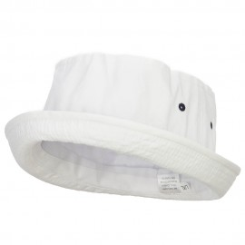 Striped Roll Up Bucket Hat