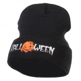 Halloween Monster Embroidered Long Beanie