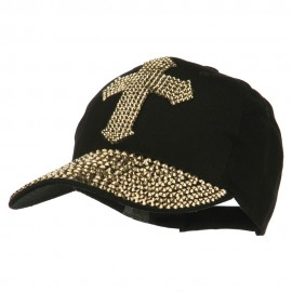 Cross Embellished Stones Baseball Cap