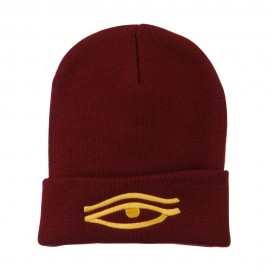 Eye That Sees All Embroidered Long Beanie
