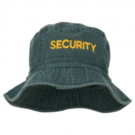 Security Embroidered Pigment Dyed Bucket Hat