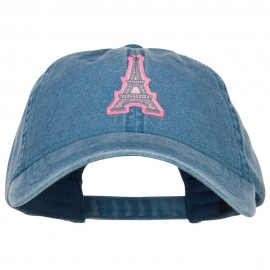 Eiffel Tower Paris Patched Washed Cap