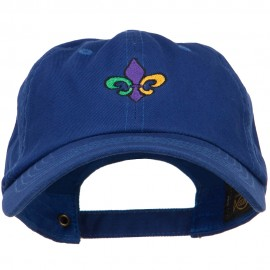 Mardi Gras Fleur de Lis Embroidered Washed Cap