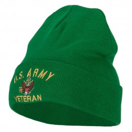 US Army Veteran Embroidered Big Size Long Beanie