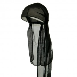 Satin Durag Cap - Black