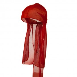 Satin Durag Cap - Red