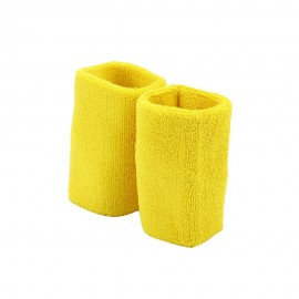 Extra Long Terry Wrist Band Pair- Yellow