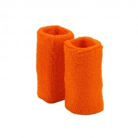 Extra Long Terry Wrist Band Pair- Orange