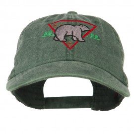 Black Bear Embroidered Washed Cap