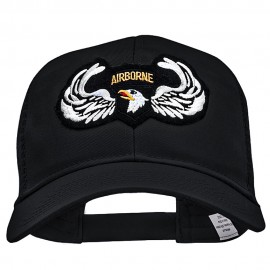 Airborne Eagle Wings Small Patched Cotton Mesh Cap