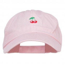 Mini Cherry Embroidered Low Cap
