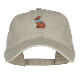 Easter Chocolate Bunny Embroidered Washed Cap