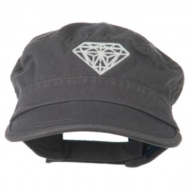 Diamond Embroidered Enzyme Army Cap
