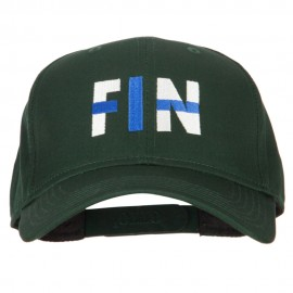 Finland FIN Flag Embroidered Solid Cotton Pro Style Cap