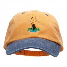Papa Fly Fishing Embroidered Pigment Dyed Wash Caps