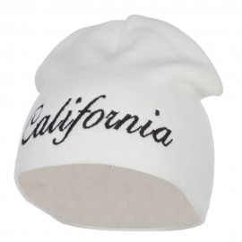 California Embroidered Short Beanie