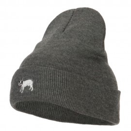 French Bulldog Embroidered Long Beanie