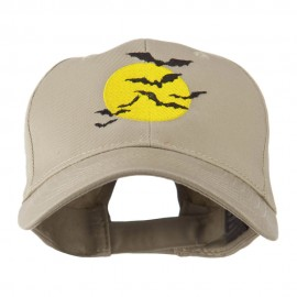 Flying Bats with Moon Embroidered Cap