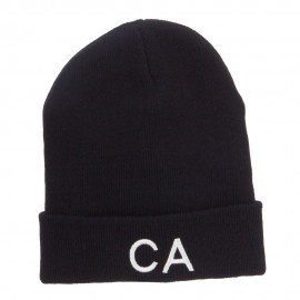 CA California Embroidered Cuff Beanie