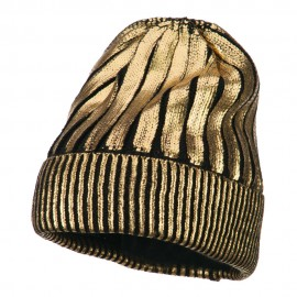 Foiled Long Cuff Beanie