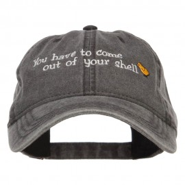 Come out of Shell Embroidered Washed Cap