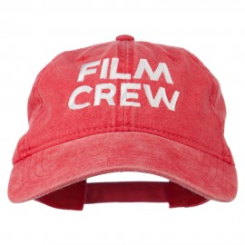 Film Crew Embroidered Washed Cap - Red