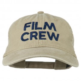 Film Crew Embroidered Washed Cap - Khaki