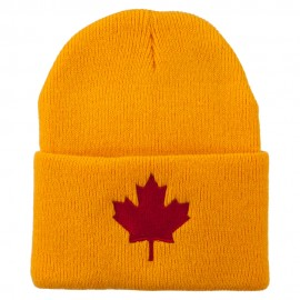 Canada Maple Leaf Embroidered Long Beanie