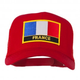 France Country Patched Mesh Back Cap