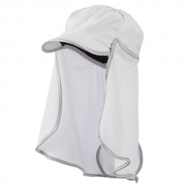 UV 50+ Talson Removable Flap Fidel Cap - White