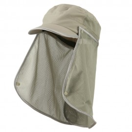 UV 50+ Talson Removable Flap Fidel Cap - Khaki
