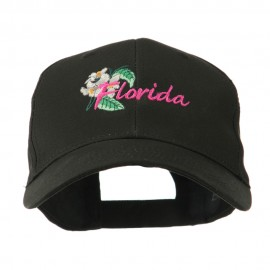 USA State Flower Florida Orange Blossom Embroidery Cap