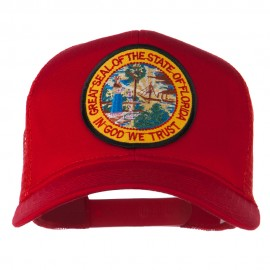 Florida State Patched Mesh Cap - Red