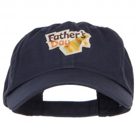 Father's Day Patched Low Profile Cap - Navy