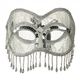 Fringed Lace Eye Mask