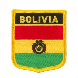 South America Flag Embroidered Patch Shield
