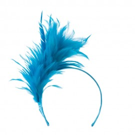 Fancy Feather Fascinator - Turquoise