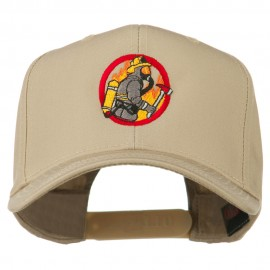 Firefighter Embroidered Pro Style Cap - Khaki