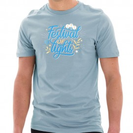Festival of Lights Graphic Design Ring Spun Combed Cotton Short Sleeve Deluxe Jersey T-Shirt