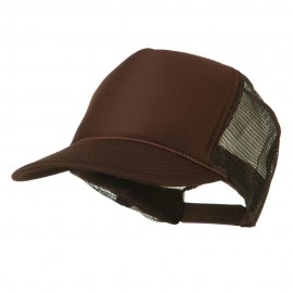 Foam Front Golf Style Mesh Back Cap - Brown