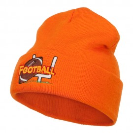 Football Field Goal Embroidered Long Beanie