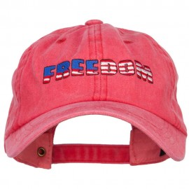Freedom USA Flag Embroidered Unstructured Cap