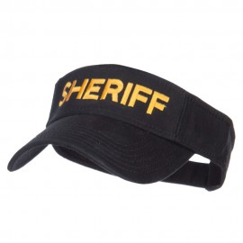 Sheriff Embroidered Washed Cotton Visor